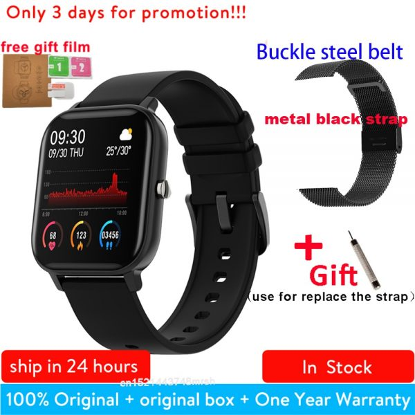 P8 1.4 inch Smart Watch Men Full Touch Smartwatch Fitness Tracker Blood Pressure Fitness Tracker Smart Clock Women Smartwatch.