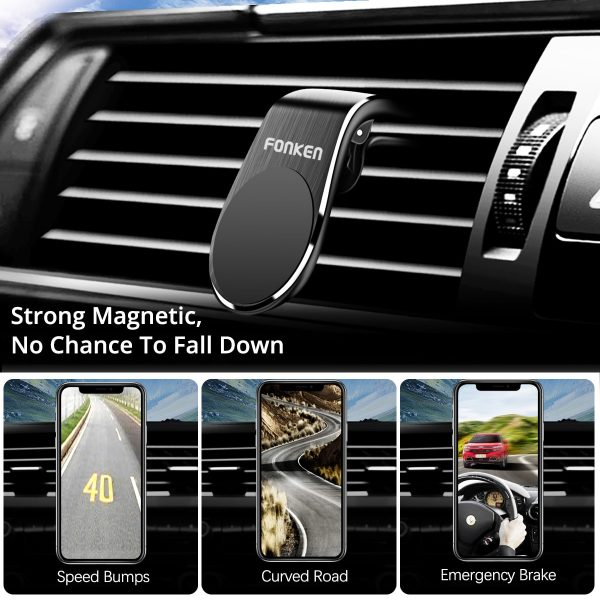 FONKEN Magnetic Car Phone Holder Car Mount Stand Air Vent Clip Mount for iPhone 11 Pro Huawei Samsung Xiaomi Car Mobile Holder