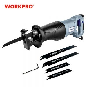 WORKPRO Electric Saw Reciprocating Saw for Wood Metal Cutting DIY Power Saws with Saw Blades