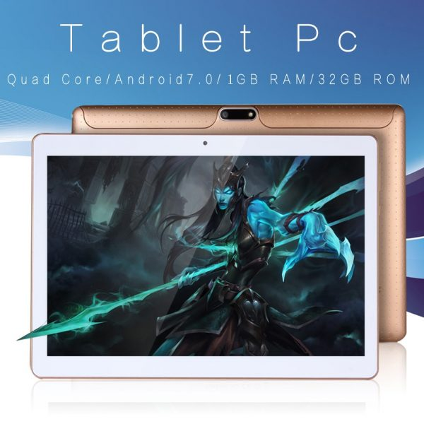 New Original 10 inch Tablet Pc Android 7.0 Google Market 3G Phone Call Dual SIM Cards BDF Brand WiFi GPS Bluetooth 10.1 Tablets